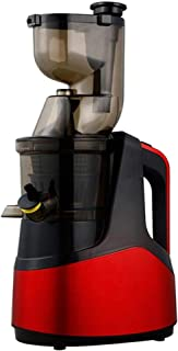 Presse-agrumes électrique à vis pour presse-agrumes - Facile à laver - Grand calibre - Rouge