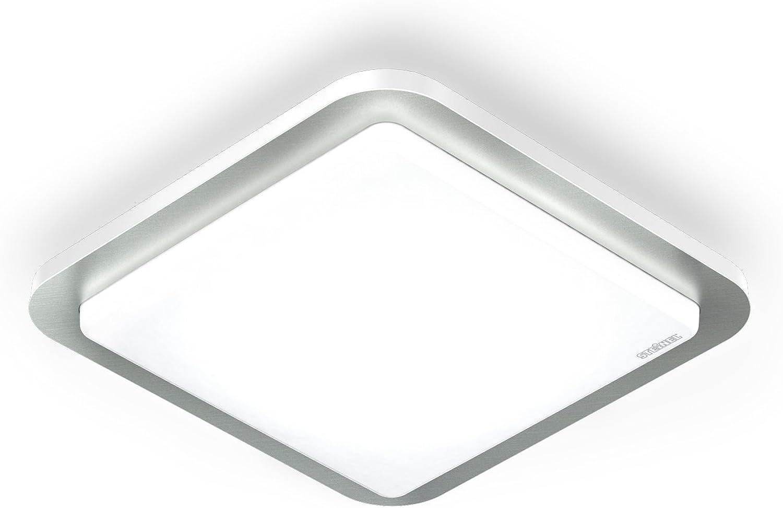 Steinel 663711 Design Sensor-Innenleuchte RS LED D2 Edelstahl, Bewegungsmelder mit Sensortechnik, energieeffizient, 16W, IP20
