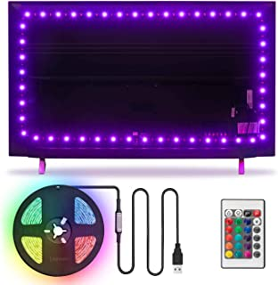 USB LED Strip Lights 8.2ft TV Backlight for 32 to 60 Inch HDTV Wall Mount Bias Mood Ambient Lighting, LED Lights for TV Gaming Room Monitor Backlighting