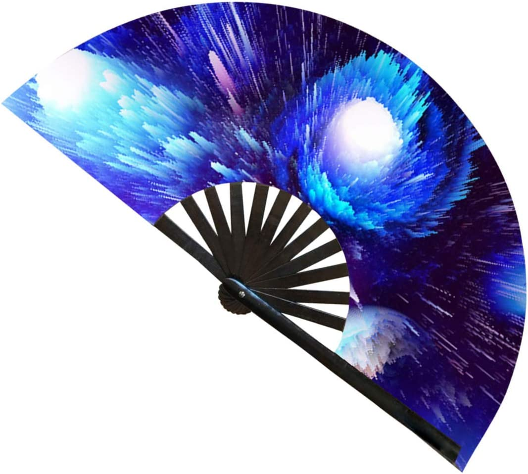NDM Brands Large Austin Mall Hand Fan Rave for Access Festival gift Perfect