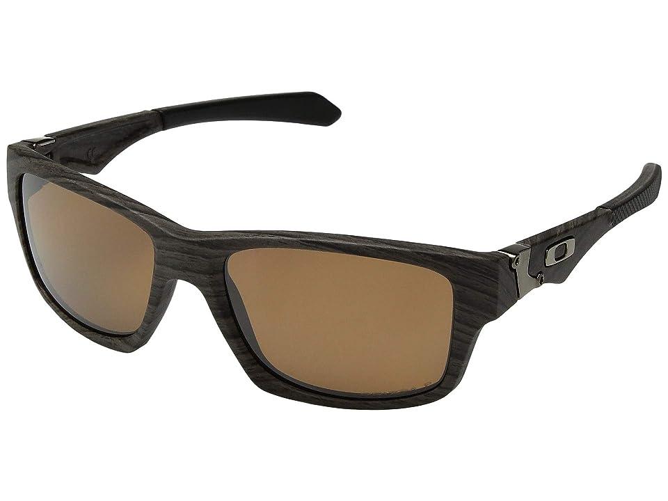 Oakley Jupiter Squared (Woodgrain w/ Prizm Tungsten Polarized) Athletic Performance Sport Sunglasses