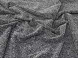 Lady McElroy Boucle Tweed-Stoff, Schwarz/Weiß, Meterware