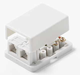 Steren 300-233WH Tel-TV Midsize White Smooth Jack Steren Electronics