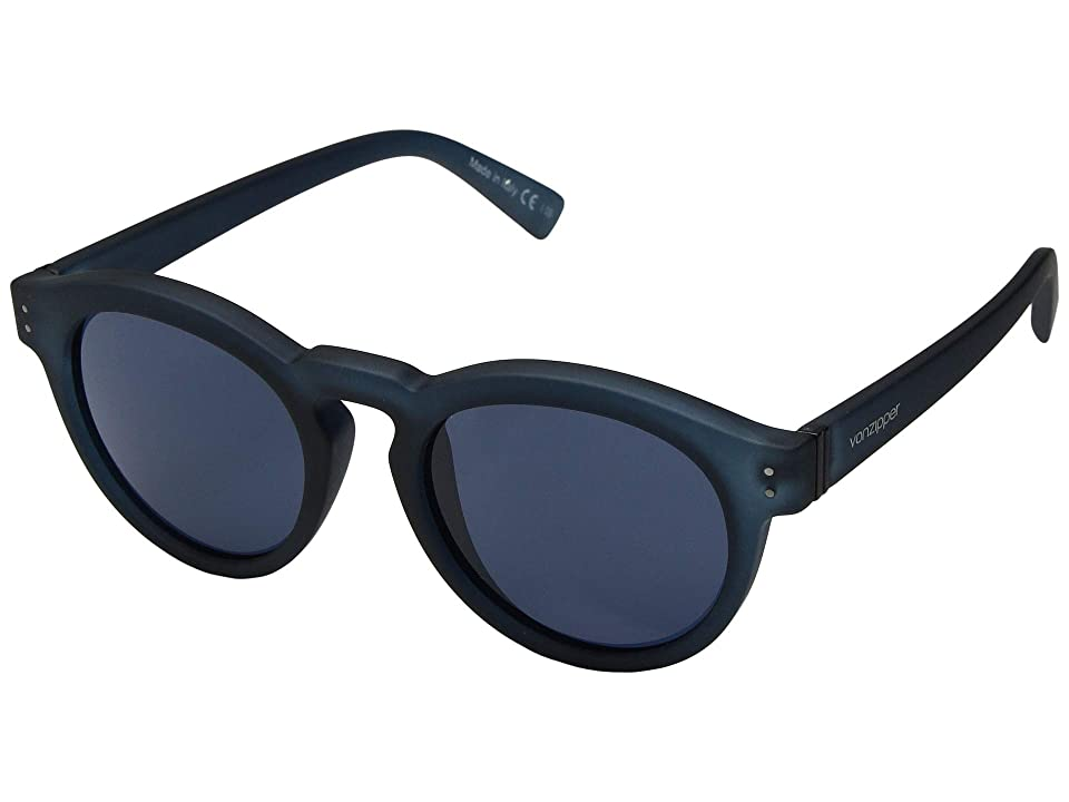 VonZipper Ditty (Navy Satin/Grey/Blue) Athletic Performance Sport Sunglasses