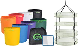 """iPower 5-Gallon Herbal Ice Bubble Hash Mesh Essence Extractor Kit Filtration x 8"""" 25 Micron Pressing Screen & Storage Bag,..."""