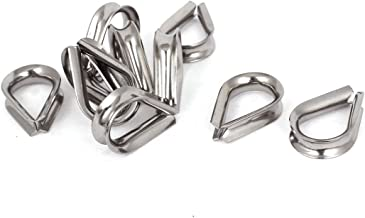 X-Dr Stainless Steel 6mm Standard Wire Rope Cable Thimbles Rigging Tool 10pcs (58dad0a0-a222-11e9-8d7c-4cedfbbbda4e)