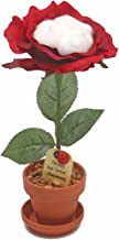 2nd Year Wedding Anniversary Gift, Potted Silk Desk Rose with Cotton, Perfect Present for Wife or Husband