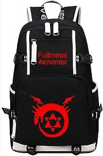 Siawasey Fullmetal Alchemist Anime Cartoon portátil mochila mochila hombro bolso de escuela 8