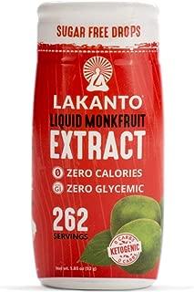 Lakanto Liquid Monkfruit Sweetener | Zero Calories | Original Flavor, 1.85 Fl Oz (Pack of 1)