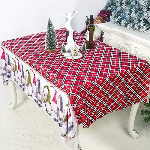 XUAILI tafelkleed afvegen 2 PCS Jubilee Schat van de nieuwe soort ornamenten stof kerstboom geborduurde tafelloper (grootte: 150x180cm)