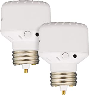 Westek Light Sensor Socket Control for Outdoor Light Bulbs and Indoor Lighting, 2 Pack – Automatic Dusk to Dawn Settings, ...