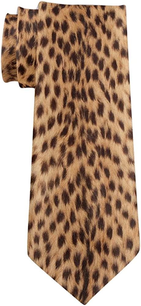 Halloween Cheetah Spots Fur All Over Neck Tie