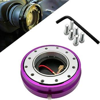 Tasan Racing 50mm Aluminum Steering Spacer for Aftermarket Steering Wheel Hub Adapter Boss Kit Black