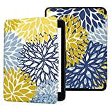 QIYI Case for Older Kindle Paperwhite Prior to 2018 (Not Fit All-New Paperwhite 10th Gen) eBook Reader Covers PU Waterproof Slimshell with Auto Wake / Sleep - Spring Floral Seamless Pattern