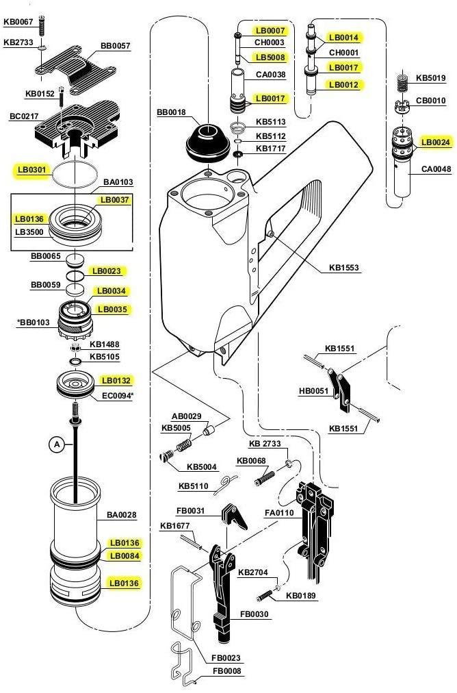 Pro-Parts 2pk LB3500 Washer Firing Valve Replacement For Senco SN4 SN70 Framing