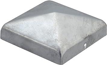 Pfostenkappen Zaunkappe Abdeckkappe 10 Stück verzinkt 91 x 91mm B-Ware 1000-552