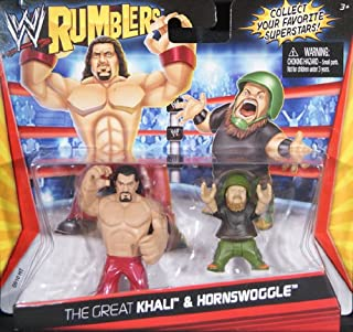 HORNSWOGGLE & THE GREAT KHALI - WWE RUMBLERS TOY WRESTLING ACTION FIGURES