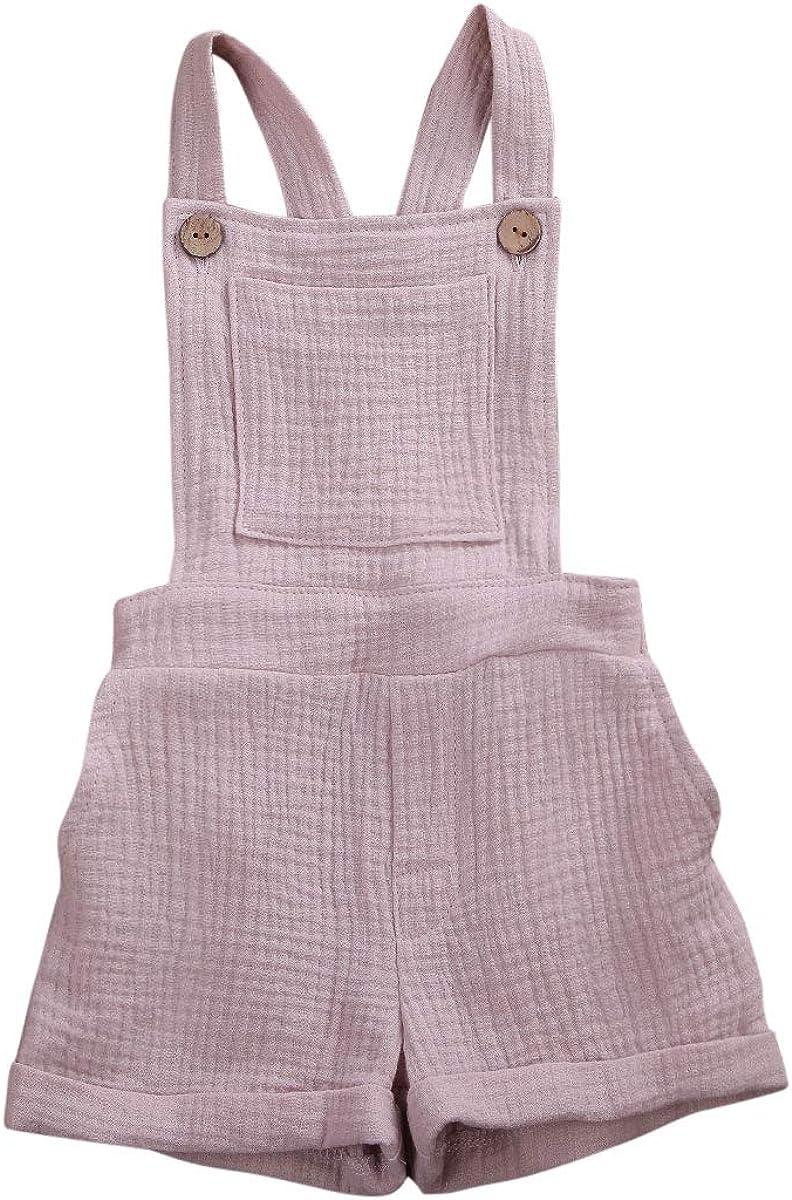 Mubineo Toddler Girl Boy Basic Luxury goods Summer Plain Bib wholesale Overalls Pocket