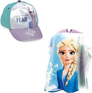 Frozen Poncho Asciugamano Accappatoio Mare Piscina Bagno Set Due Pezzi Frozen