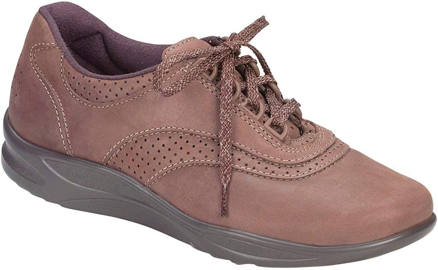SAS Woherrar Walk Easy Chocolate Nubuck 9 N - Narrow (AA) USA