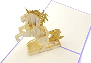 PopLife Magical Unicorn 3D Pop Up Mother's Day Card - Birthday Pop Up Card, Baby Shower Gift, Get Well - Fold Flat for Mailing - for Mother, for Daughter, for Wife, for Granddaughter, for Mom, Sister