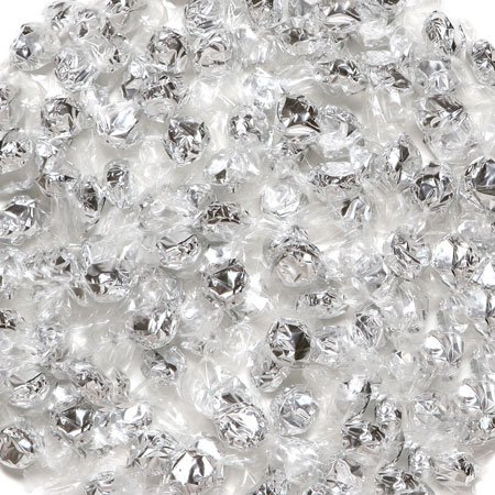 Hard Candy Wrapped in Silver Foil Pineapple Flavor 2.5 Pounds