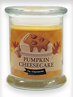 Pumpkin Cheesecake Natural Scented Soy Wax 12oz Fall & Winter Candle ~ Non-Toxic ~ Made in USA ~ Gift for Special Occasions ~ S&M Web Widgets