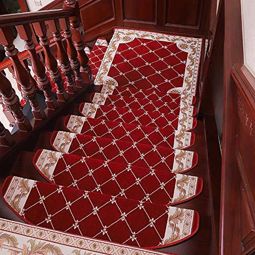 Unbekannt HAIZHEN Tapis d'escalier avec 7 Tapis de Sol adhésifs antidérapants et antidérapants (24 x 64 x 3 cm), 24 x 75 x 3 cm, 24 x 80 x 3 cm, 1, 24 * 80 * 3cm