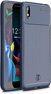 حالات LG For LG K20(2019)Beetle Series Carbon Fiber Texture Shockproof TPU Case(Black) حالات LG (Color : Blue)