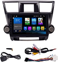 KUNFINE Quad Core Android 8.0 Car DVD GPS Navigation Autoradio Car Stereo Multimedia Player Car Radio for Toyota Highlander 2009 2010 2011 2012 2013 Headunit Supports Steering Wheel Control