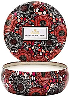 Voluspa Persimmon and Copal 3 Wick Tin Candle, 12 Ounces