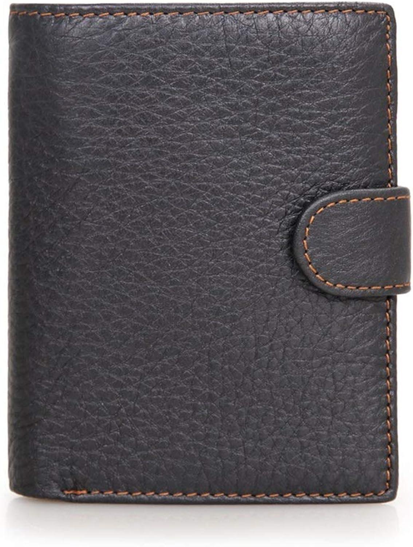 Womens Blocking Large Capacity Wallet Men's Wallets Leather PU Leather Zip Slim Front Pocket Wallet Credit Card Cash Bag Leather Clutch Wallet Multi Card Organizer (color   Black)