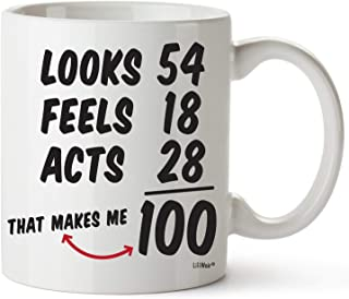 100th Birthday Gifts For Women Hundred Years Old Men Gift Mugs Happy Funny 100 Mens Womens Womans Wifes Female Man Best Friend 1919 Male Mug Unique Ideas 19 Woman Wife Gag Dad Cute Girls Guys Good