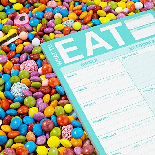 Knock Knock What To Eat Pad (Mint Green), Meal Planning Note Pad, 6 x 9-inches Photo #4