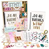 STMT DIY Journaling Set by Horizon Group USA, Personalize & Decorate Your Planner/Organizer/Diary with Stickers, Glitter Frames, Magnetic Bookmarks, Tassel Keychain & More. Pen Included