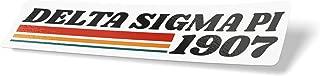 Delta Sigma Pi 70's Sticker Decal Greek for Window Laptop Computer Car (Design 5)
