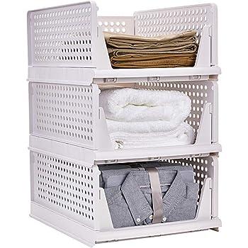 衣類 収納ボックス キッチン収納ケース 折り畳み 省スペース 超安定 通気性良く 収納ボックス クローゼット用 3個セット 超厚手耐荷重 引き出し衣類収納