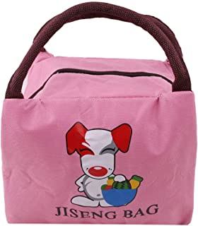 VWH Pink Lunch Bag Foldable Insulated Lunch Box Bento Cooler Bag for Men Women Adults Kids in Work Office,Picnic,School