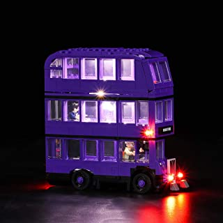 Vonado Led Lighting Kit for Lego 75957 Harry Potter Series The Knight Bus Compatity 4866 Building Bricks Light Set Creator City technic Blocks Toys Gift to Friends Children(Only Lights)