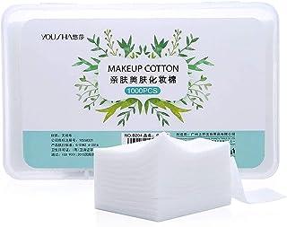 (1000 Pieces) - Lameila 1000pcs Makeup Facial Cotton pads Unbleached Makeup Remover Non-woven cotton Nail Wipes 60x50mm, R...
