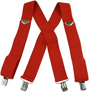 "Jumbo Clip Suspenders - Red (2"")"
