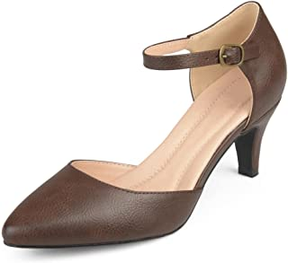 Womens Faux Leather Comfort Sole D'Orsay Ankle Strap...