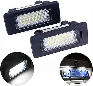 2pcs Fit for BMW License Plate Lights 3W 24 Led Car Number Plate Lights Rear License Tag Lights Plug and Play for X5 X6 M3 E39 E60 E70 E71 E82 E90 E92