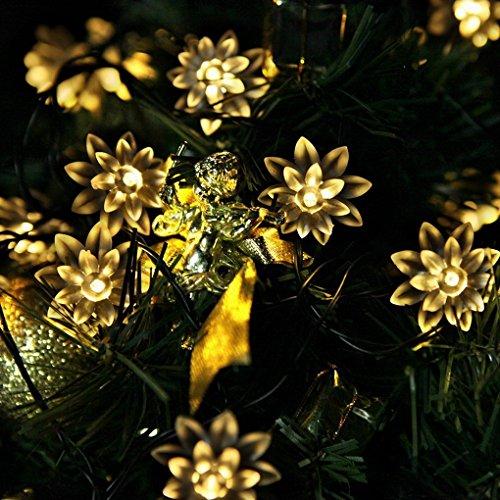 Agooding solare fiore fata luci della stringa 20 LED fiore decorativo Luci di Natale, Outdoor e Indoor usare, ideale per la cerimonia nuziale, partito, Luci Halloween