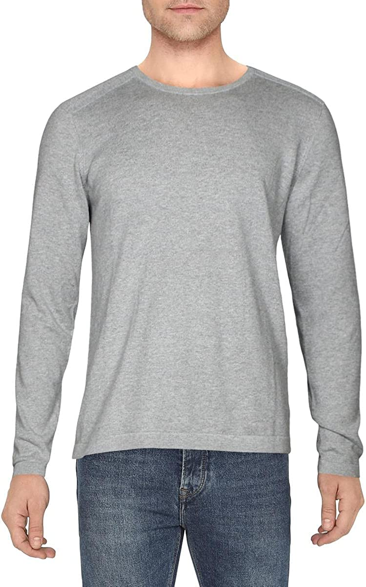 J Brand Mens Cashmere Ribbed Trim Pullover Sweater