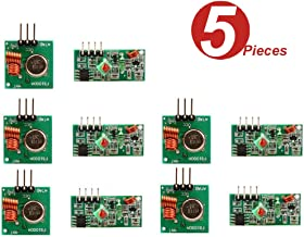 WINGONEER 5Pcs 433MHz RF Wireless Transmitter and Receiver Module Kit for Arduino Raspberry Pi