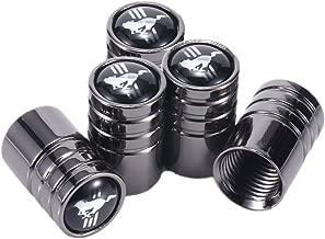 TK-KLZ 5Pcs Chrome Car Tire Valve Stem Caps for Ford Mustang Car Model Series Decorative Accessory