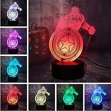 Marvel avengers Iron man nachtlampje, 3D-nachtlampje, kerstmis, verjaardag, cadeau voor kinderen, meisjes, jongens Marvel ...