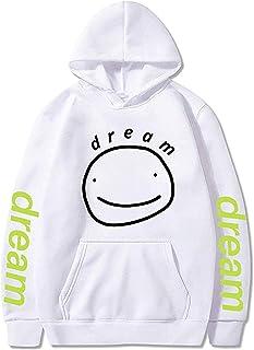 JHDESSLY Dreamwastaken Dream Merch Smile Harajuku Unisex Hoodie Sweatshirts Men Women Cozy Pocket Streetwear Pullover Trac...