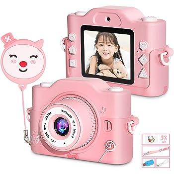 子供用カメラ ZumYu 子供用デジタルカメラ トイカメラ 子供用トイカメラ キッズカメラ キッズデジカメラ 前後2000万画素 1080P録画 2.0インチIPS画面 8倍ズーム 多機能 高画質 自撮り人気のおもちゃカメラ USB充電 32GB SDカード付き 日本語説明書付き 子供の日 誕生日プレゼント
